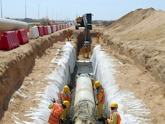 Trench Excavation Network at Modern Residential City Mussafah- Trench Excavation for Chilled Water Pipeline